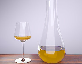 WINE GLASS AND JAR 3D model game-ready