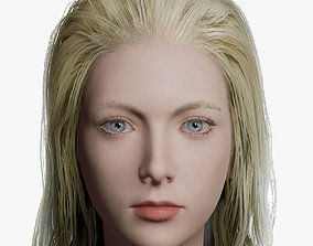 3D model low-poly PBR Female Character woman
