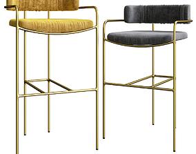 Louvini Style Chairs Design 3D model