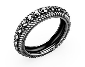 A Package 8 Skull Ring All Size 3D print model