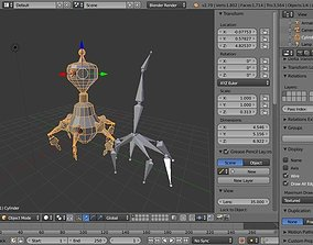 Sentry robot - Rawly 3D asset