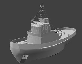 3D model game-ready Tug Boat