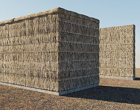 Thatched fence 3D model