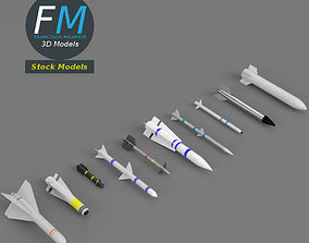 3D model Missiles and bombs collection