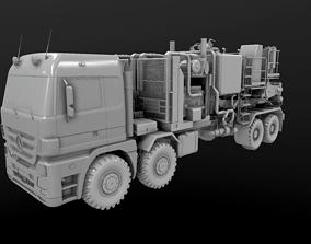 3D model Halliburton Cement Elite pump unit