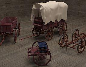 3D model Civil War Carts