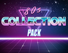 retro 80s Collection Pack 3D model