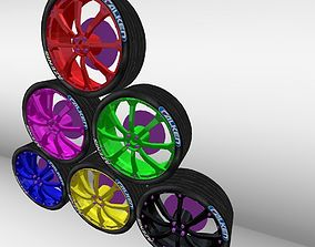 rim racing collada tunning for cars rally y 3D print model