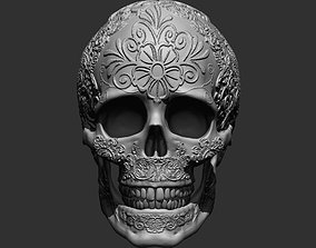 3D printable model Ornamented Skull