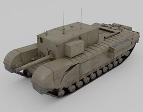 3D asset Churchill 3 inch gun carrier