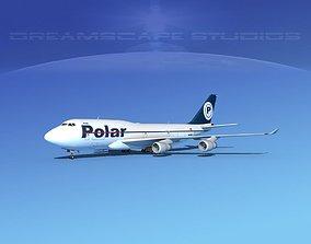 3D Boeing 747-400 Polar