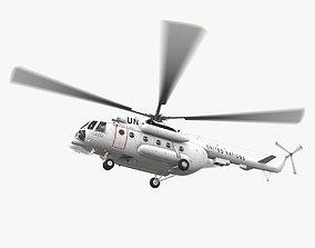 3D asset Mi-8MTV United Nations Animated