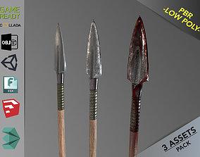 Spear 1 3D asset