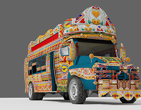 Pakistani Old Nishan Bus 3D model