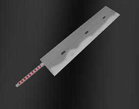 3D asset Darui Sword Naruto- Cleaver Sword
