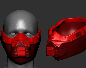 helmet high poly sculpt 3d printable plastic luxury