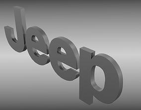 3D model Jeep logo