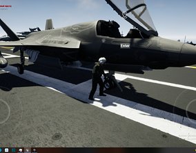 3D asset Aircraft Carrier With Fighter F35 F18 Su37 J15