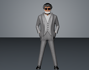 rajnikanth Superstar Rajinkanth Kabali 3D Model