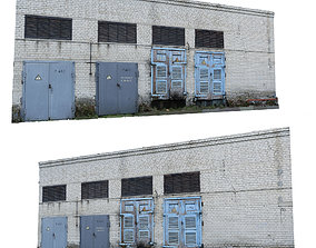 Electrical station wall scan 28 3D asset