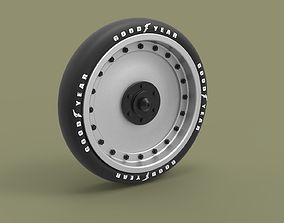 Wheel from record jet car 3D model