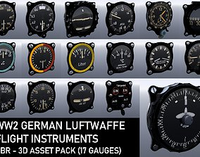 3D model WW2 GERMAN FLIGHT INSTRUMENTS - ASSET PACK