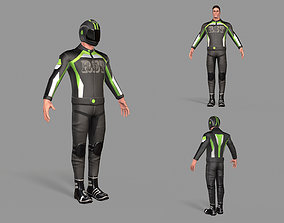 Biker boy 3D model