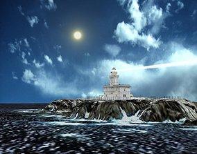 Capo Testa Lighthouse - Sardinia-Italy 3D asset