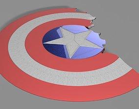 Captain America Broken Shield From 3D printable model 3