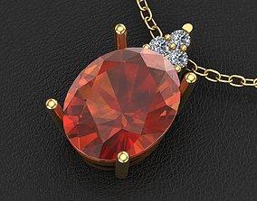 oval pendant beauty 3D printable model