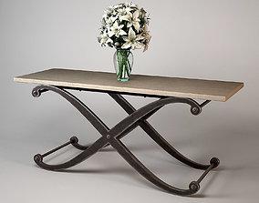 Andrew Martin Elizabeth Console Table 3D