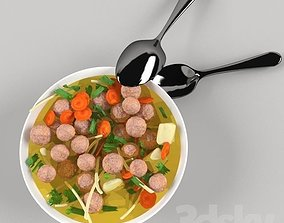 soup and spoon 3D