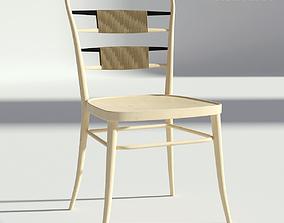 Retro Wooden Chair 3D