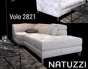 3D model Sofa Natuzzi Volo 2821