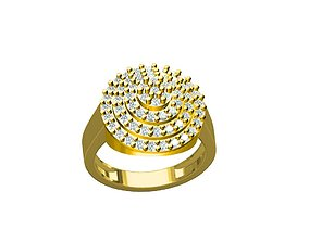 LADIES RING 3D printable model gold-ring