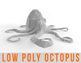 Octopus Low Poly Squid Lowpoly Kraken Tentacle 3D asset