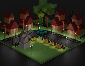 3D normal village home design