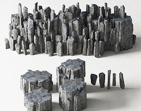 3D model Rock stone collection n4