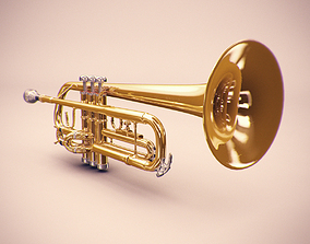 3D model horn Trumpet