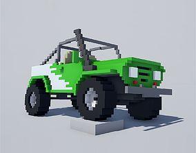 3D asset Voxel Cars pack