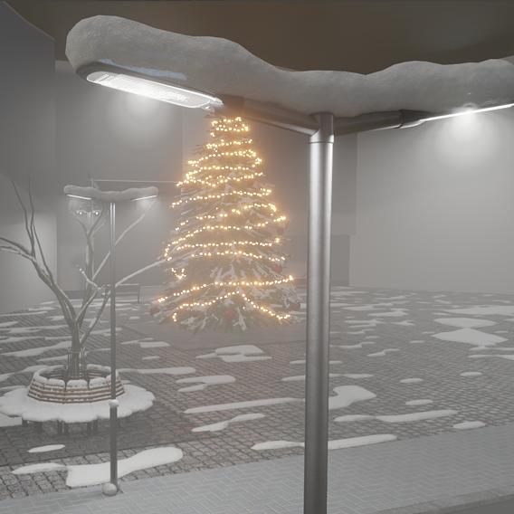 Blender-2.91 Real Snow Test-5