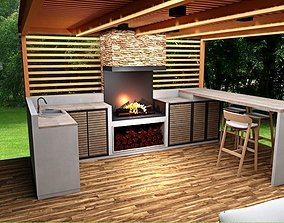 furniture outdoor kitchen lounge grill pavilion game-ready