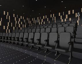 3D asset VR / AR ready Modern Cinema Hall 06