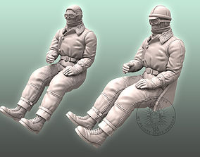 3D printable model WW I Pilot figurines