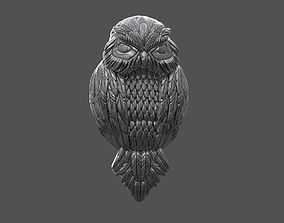 Owl Necklace jewelry 3D print model