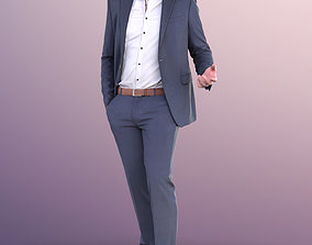 11124 Liam - Standing Business Man Talking 3D model