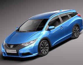 3D Honda Civic Tourer 2014