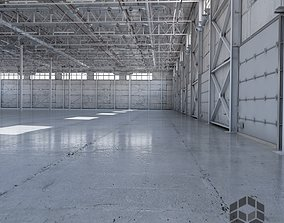 manufacturing Warehouse Empty interior 3D