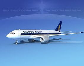 Airbus A350-800 Singapore Airlines 3D model