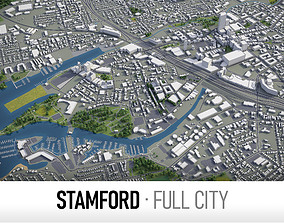 Stamford - city and surroundings 3D model